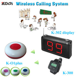 Wireless Restaurant Pager System Paging Transmitter K-302 Newest Wrist Watch K-300 Table Buzzer K-O1plus pictures & photos
