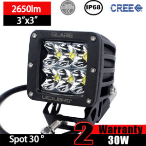 LED Pods Light 3X3 30W (Warranty 2 years, Waterproof IP68)