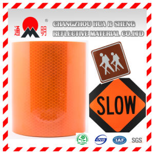 Acrylic Yellow Surface High Intensity Grade Reflective Material for Road Safety (TM1800) pictures & photos