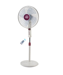 16 Inch 4 Speeds Plastic Floor Fan with Remote