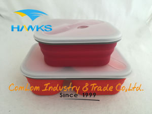 Foldable Silicone Lunch Box Cooker Food Container pictures & photos