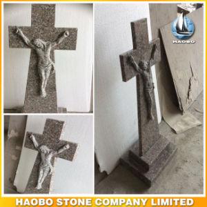 China G635 Granite Headstone Cross and Jesus Design pictures & photos