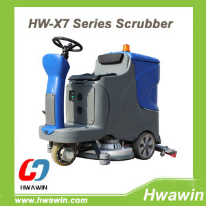 Electric Ride on Floor Cleaning Scrubber pictures & photos