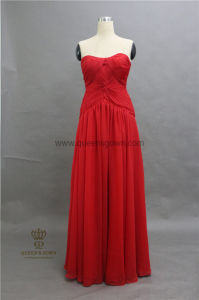 China Dress Manufacturer Blush Sweetheart Lace up Long Bridesmaid Dress pictures & photos