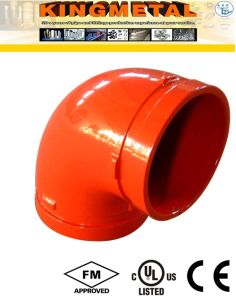 300 Psi Ductile Iron 90 Degree Grooved Elbow Fittings pictures & photos