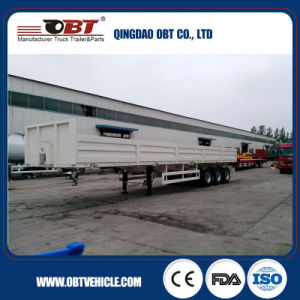 Flatbed Transportation Deck Sidewall Semi Trailer pictures & photos