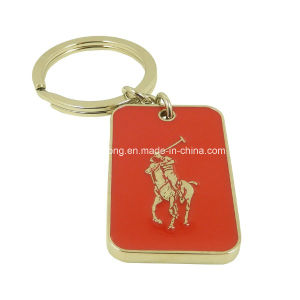Red Enamel Retangle Keychain pictures & photos