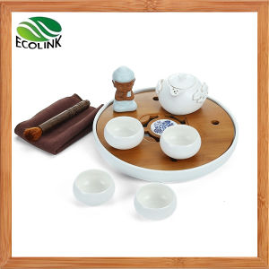 Ceramic Tea Set with Bamboo Teaboard pictures & photos