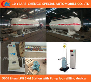 5000 Liters LPG Skid-Mounted Liquefied Gas Station pictures & photos