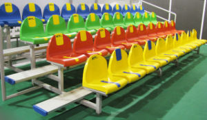 Plastic Bleachers, Gym Bleachers for Basketball Stadium pictures & photos