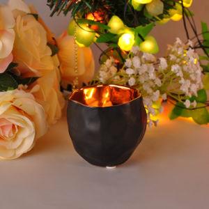 26 Oz Matt Black Finish Ceramic Candle Holders pictures & photos
