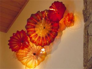 Blown Wall Decoration Plates with Handmade Glass Material (YK-B114)