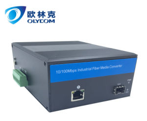 duplex fiber media converter with PoE 10/100Mbps external power supply