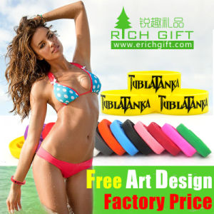 Energy Adjustable Running Silicone Imprinted Bracelet Free Sample Glow pictures & photos