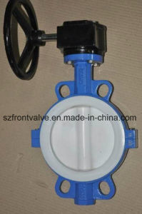 PTFE Lined Cast Iron Wafer Butterfly Valve pictures & photos