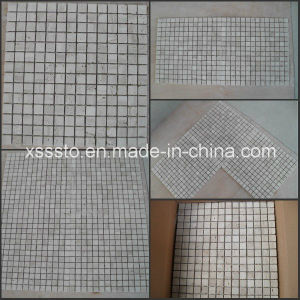 Light Travertine Mosaic Tiles/Wall Stone Mosaic pictures & photos