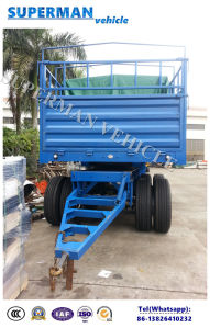 60t 4axle Cargo Transport Full Trailer for Sales pictures & photos