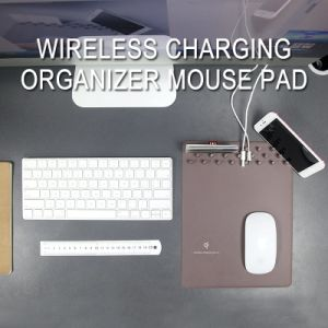 Newest Qi Wireless Charger for iPhone X Mousepad Organizer pictures & photos