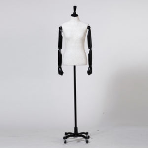 Fashionable Lace Wrapped Female Torso Mannequin with Wooden Arm pictures & photos