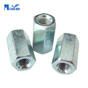 Zinc Plated Carbon Steel DIN6334 Hex Connecting Nuts