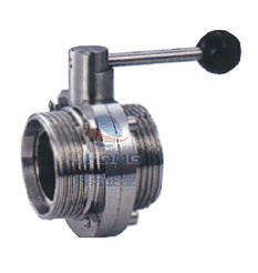 Stainless Steel Butterfly Valve with Threaded End pictures & photos