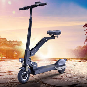 Two Wheels Electric Smart Skateboard Folding Bike with Handle pictures & photos