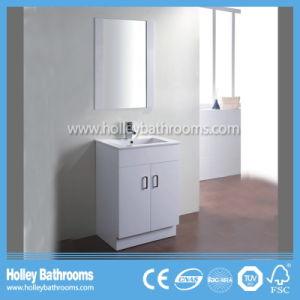 High Gloss Vinyl-Wrap Top Grade Modern Bathroom Vanity Unit (BC129V) pictures & photos