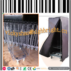 Hotel Plastic Cleaning Trolley Janitor Cart pictures & photos