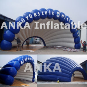 OEM Inflatable Transparent Shell Tent with LED Light pictures & photos