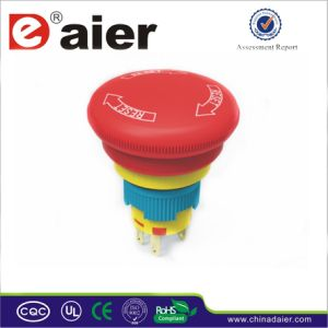 Plastic Dpst Waterproof Emergency Stop Mushroom Button; Emergency Switch (A16-20SR-B) pictures & photos
