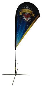 Outdoor Solar Stand Flag for Advertising pictures & photos