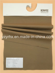 Finished Fabric Cotton / Spandex Stretch Printed Dark Khaki pictures & photos