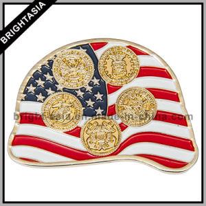 High Quality Enamel Souvenir USA Challenge Coin (BYH-101104) pictures & photos