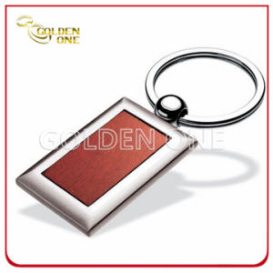 Factory Supply Superior Square Shape Wooden Keychain pictures & photos