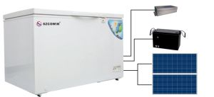 Solar Powered Freezer Compressors Electric Car Coolers 354L pictures & photos