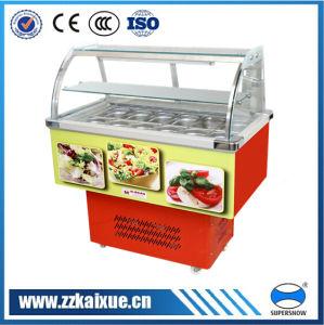 Two Layers Small Salad Display Refrigerator
