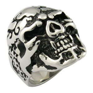 Skull Ring Casting Jwelry Mop Black Ring pictures & photos