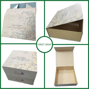 Fancy Blue Paper Bag with Handle pictures & photos