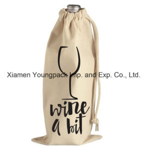 Promotional Custom Drawstring Cotton Canvas Cloth Wine Bag pictures & photos