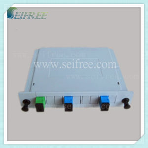FTTH Fiber Optical PLC Splitter 2*4 with ABS Box (B6) pictures & photos