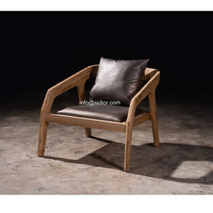 (SL-8204) Solid Wood Hotel Restaurant Room Furniture Wooden Leisure Arm Chair pictures & photos