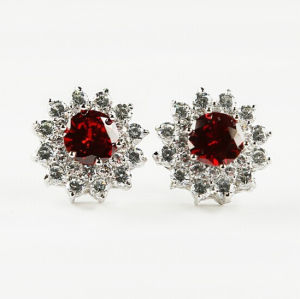 Cubic Zircon Diamond Crystal Stud Silver Earrings pictures & photos