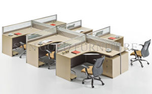 Modern 6 Seater Straight Office Staff Workstation with Cabinet Sz-Ws020) pictures & photos