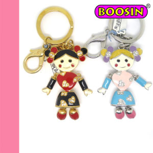 Chinese Girl Metal Keychain / Custom Lovely Keychain / Friendship Keychain pictures & photos