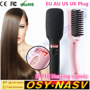 2016 New Arrival Brush Hair Straightener Comb Irons Come with LCD pictures & photos