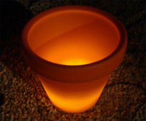 Outdoor Solar Powered LED Glow in The Dark Flower Pots for Garden Planters Plant Decorative pictures & photos