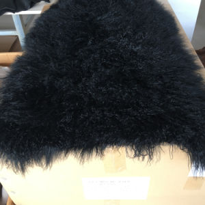 Black Beach Wool Plate Multi Dyed Color Sheep Fur Skin pictures & photos