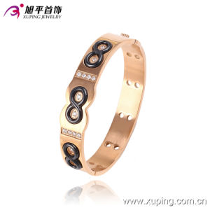 51446 Newsales Fashion Xuping Rose Gold-Plated Imitation Jewelry Bangle with 8 Number in Stainless Steel jewelry pictures & photos