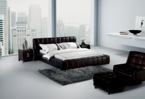 American Style Genuine Leather Bed (SBT-5802) pictures & photos