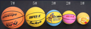 New Design Different Size Rubber Basketball pictures & photos